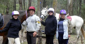 Tania and the MAD Melbourne Cup Gang with their typical riding attire!!
