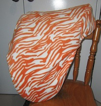 Orange and white zebra