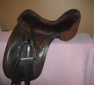 Sheepskin Seatsaver for Stock/Western saddles